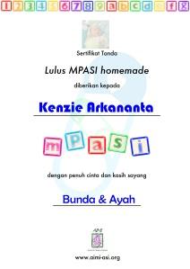 Seritifikat MPASI Homemade